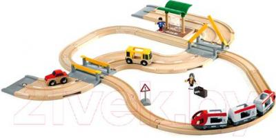 Железная дорога детская Brio Rail & Road Travel Set 33209