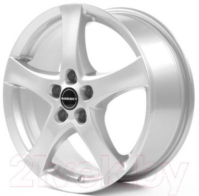 "Литой диск Borbet F 16x6.5"" 5x114.3мм DIA 72.5мм ET 40мм (Brilliant Silver)"