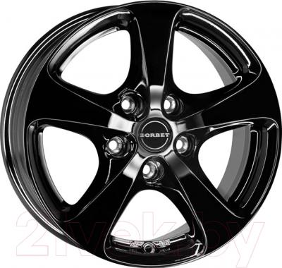 "Литой диск Borbet CC 16x7"" 5x120мм DIA 72.5мм ET 20мм (Black Polished Matt)"