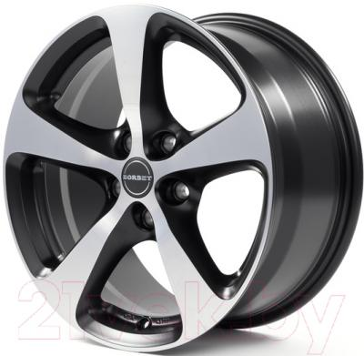 "Литой диск Borbet CC 17x8"" 5x112мм DIA 57.06мм ET 40мм (Black Polished Matt)"