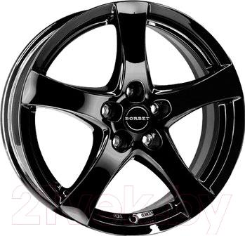 """Литой диск Borbet F 17x7"""" 5x112мм DIA 72.5мм ET 35мм (Black Glossy)"""