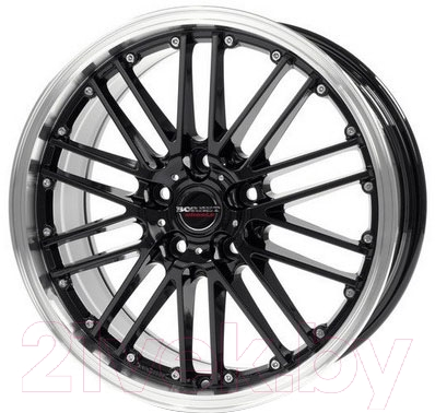 "Литой диск Borbet CW2 17x7"" 5x114.3мм DIA 72.5мм ET 40мм (Black Rim Polished)"