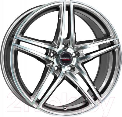"Литой диск Borbet XRT 17x8"" 5x114.3мм DIA 72.5мм ET 45мм (Graphite Polished)"