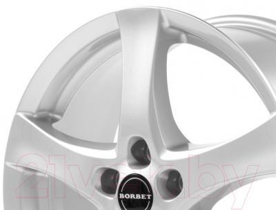 "Литой диск Borbet F 18x8"" 5x115мм DIA 70.27мм ET 40мм (Brilliant Silver)"