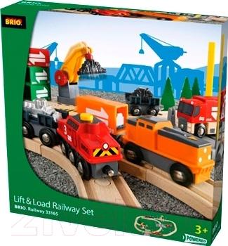 Железная дорога детская Brio Lift & load Railway Set 33165