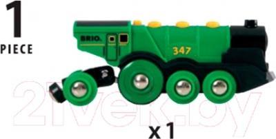 Элемент железной дороги Brio Локомотив зеленый 33593