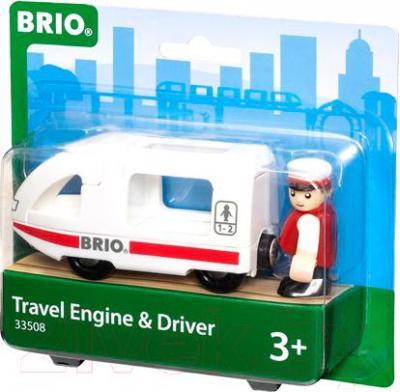 Элемент железной дороги Brio Поезд для путешествий с машинистом 33508