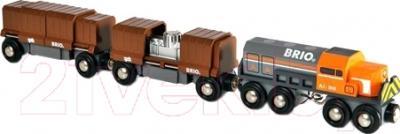 Элемент железной дороги Brio Товарный поезд с вагонами 33567