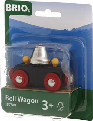 Элемент железной дороги Brio Вагон с колокольчиком 33749
