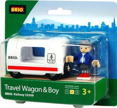 Элемент железной дороги Brio Вагон для путешествий 33509