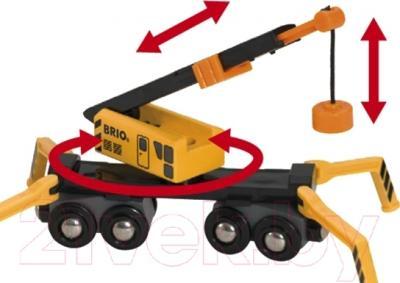 Элемент железной дороги Brio Большой погрузочный кран 33734