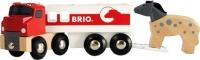 Элемент железной дороги Brio Трейлер для перевозки лошадей 33405 -