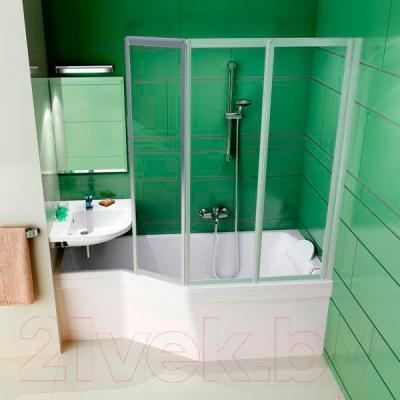 Экран для ванны Ravak Be Happy 150 R (CZ15100A00) - вместе с ванной
