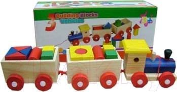 Развивающая игрушка Yunhe Muwanzi Локомотив TZ-B6026