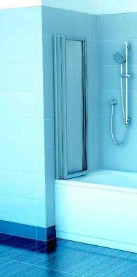 Пластиковая шторка для ванны Ravak VS3 115 (795S0U0041) - в сложенном виде