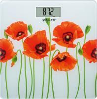 Напольные весы электронные Scarlett SC-BS33E074 (маки) -