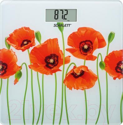 Напольные весы электронные Scarlett SC-BS33E074 (маки)
