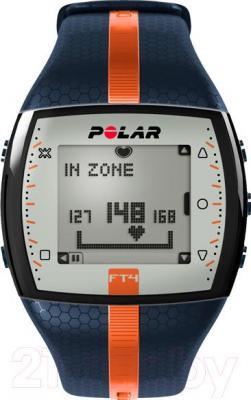 Пульсометр Polar FT4 (сине-оранжевый)