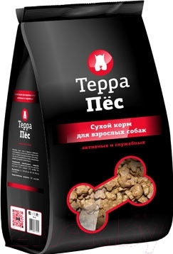 Корм для собак ТерраПес Для активных и служебных собак TRK015 (12 кг)