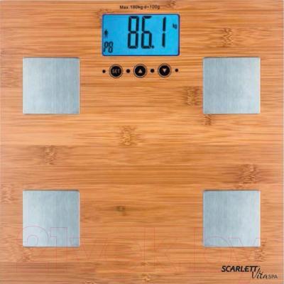 Напольные весы электронные Scarlett SC-BS33ED79 (бамбук)