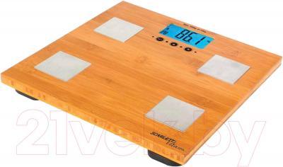 Напольные весы электронные Scarlett SC-BS33ED79 (бамбук) - платформа из натурального бамбука