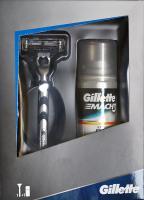 Подарочный набор Gillette Mach3 станок + 1 кассета + гель -
