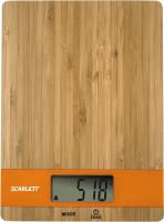 Кухонные весы Scarlett SC-KS57P01 (бамбук/оранжевый) -