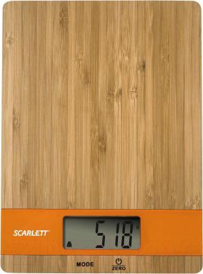 Кухонные весы Scarlett SC-KS57P01 (бамбук/оранжевый)