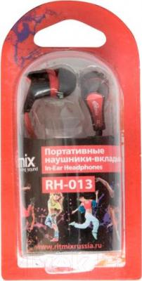 Наушники Ritmix RH-013 (черно-красный)