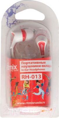 Наушники Ritmix RH-013 (бело-красный)