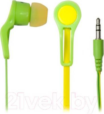 Наушники Ritmix RH-014 (желто-зеленый)