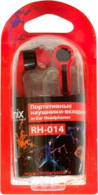 Наушники Ritmix RH-014 (черно-красный)