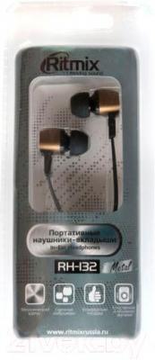 Наушники Ritmix RH-132 (бронза)