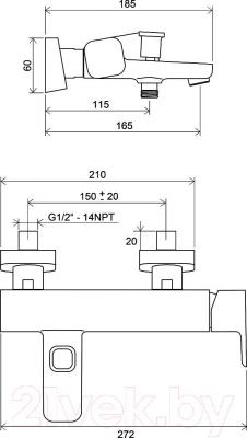 Смеситель Ravak TD 022.00