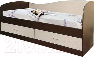 Односпальная кровать Мебель-Класс Лагуна-2 (венге-дуб молочный)