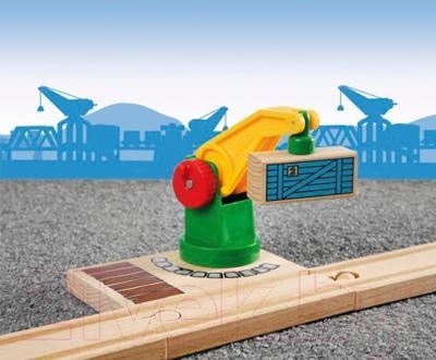 Элемент железной дороги Brio Подъемный кран железной дороги 33245