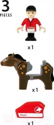 Элемент железной дороги Brio Лошадь с наездником 33793