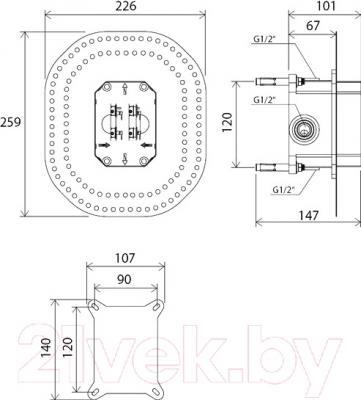 Встроенный механизм смесителя Ravak RB 070.50