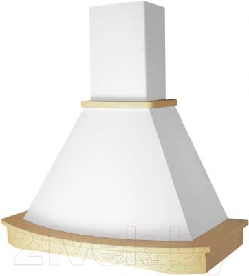 Вытяжка купольная Elikor Ротонда S 90 / 90П-1000-ПЗГ (бежевый/дуб неокрашенный)