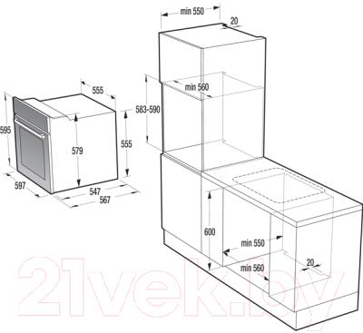 Электрический духовой шкаф Gorenje BO637INB