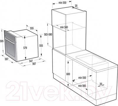 Электрический духовой шкаф Gorenje BO637INI