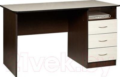 Письменный стол Мебель-Класс Альянс правый (венге-дуб молочный) - книга в комплектацию не входит