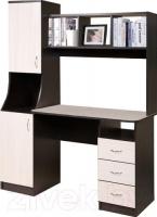 Компьютерный стол Мебель-Класс Партнер левый (венге-дуб молочный) -