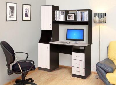 Письменный стол Мебель-Класс Партнер левый (венге-дуб молочный)