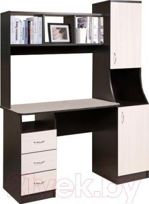 Письменный стол Мебель-Класс Партнер правый (венге-дуб молочный)