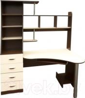 Компьютерный стол Мебель-Класс Символ левый (венге-дуб молочный) -