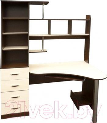 Компьютерный стол Мебель-Класс Символ левый (венге-дуб молочный)
