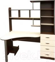 Компьютерный стол Мебель-Класс Символ правый (венге-дуб молочный) -