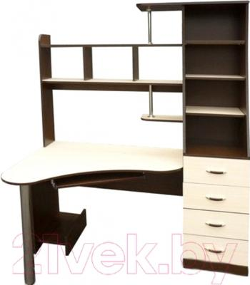 Компьютерный стол Мебель-Класс Символ правый (венге-дуб молочный)