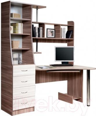 Компьютерный стол Мебель-Класс Символ левый (ясень шимо св./ясень шимо темный)